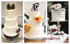 Rustic and romantic wedding cakes with fresh flowers and foliage Fresh Flower Cake, Fresh Flowers, Buttercream Wedding Cake, Beautiful Wedding Cakes, Wedding Cake Designs, Yummy Cakes, How To Make Cake, Special Day, African