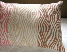 Etsy hand blocked pillow