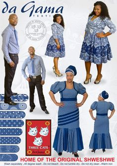 Welcome to the official website of Da Gama Textiles, home to the original Shweshwe. Want to know more about us or Shweshwe, and see what we have to offer? African Dresses For Women, African Attire, African Fashion Dresses, Fashion Outfits, African Clothes, Model Dress Batik, Batik Dress, Seshweshwe Dresses, Casual Dresses