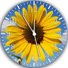 Sunflower Clock. Maybe For The Living Room? | Kitchen Clocks | Pinterest |  Sunflowers, Clocks And Living Rooms