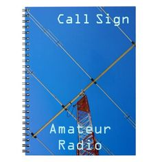 Amateur Radio Call Sign & Beam 2 Notebook from Florals by Fred #zazzle #gift #amateurradio