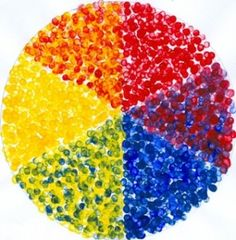 Like the dot method as a way to mix the primary colors to create the secondary.