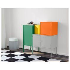 IKEA - LIXHULT Storage combination green/gray, orange/yellow
