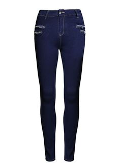 Side Zippers High Waist Slim Skinny Jeans_Butt Lifting Skinny Jeans_Women Jeans_Sexy Lingeire   Cheap Plus Size Lingerie At Wholesale Price   Feelovely.com