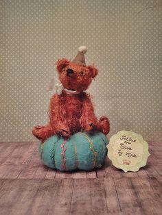 Bear Pincushion  OOAK by malu62 on Etsy