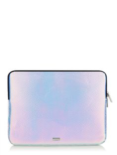 customizable  Vanessa Bruno style MacBook case  Suede and glitter computer or tablet pouch  Customizable sleeve navy blue Ipad pouch