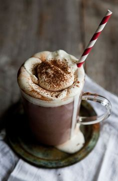 spicy hot chocolate with baileys, cardamom + cinnamon recipe