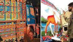 Beautiful, hand-painted Pakistani truck art = Amazing.