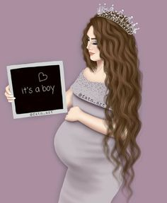 Pin by Yurany Castaño on muñecas in 2019 Mother Daughter Art, Mother Art, Mother And Child, Cute Couple Art, Cute Couples, Sarra Art, Pregnancy Art, Girly M, Bff Drawings