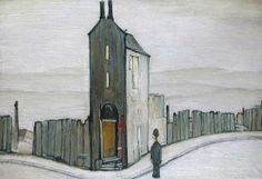 Laurence Stephen Lowry, R. The Derelict House Salford, Derelict House, English Artists, British Artists, Paul Gauguin, Naive Art, Art For Art Sake, Illustrations, Urban Landscape