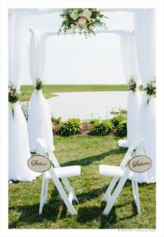 Beautiful Wedding wedding arch at Sprucewood Shores Estate Winery, captured by Wet Fresco Photography!  www.weddingshows.com