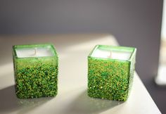 Your place to buy and sell all things handmade Pure Lime, Fresh Lime, Green Glitter, Green And Gold, Candle Set, Candle Holders, Gifts For Her, Great Gifts, Glitter Candles