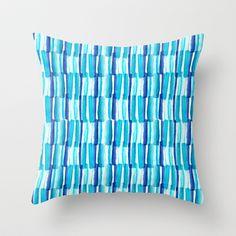 Soothing Seas Throw Pillow by Sara Berrenson | Society6