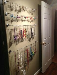 DIY Mount Cutlery Trays on Door For Jewelry DIY House ReDo