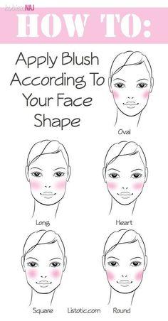 Nakladaj róż w zależności od kształtu twarzy - Podpowiadamy jak to zrobić!