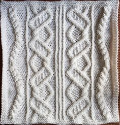 Ravelry: Marian Tabler square - Tipsy Cable pattern by Marian Tabler