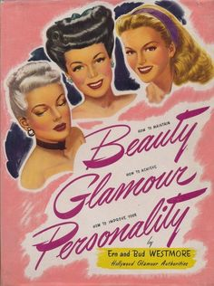1940s hairdos Vintage Makeup, Vintage Beauty, Vintage Fashion, Vintage Advertisements, Vintage Ads, Vintage Style, Retro Advertising, Fashion Advertising, Vintage Pink