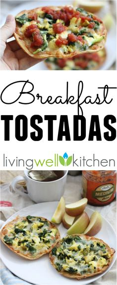 Skip the restaurant for these crispy veggie-packed and healthy breakfast tostadas. This Breakfast Tostadas recipe is a tasty gluten free breakfast or dinner idea