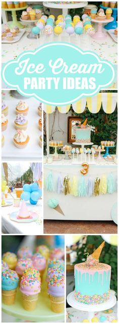 So many amazing details at this ice cream birthday party! See more party ideas at http://CatchMyParty.com!