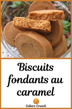 Biscuits Fondants, Caramel, Galletas Cookies, Biscotti, French Toast, Yummy Food, Bread, Cooking, Breakfast