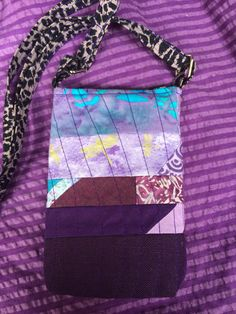 Scrappy, quilted, Mini cross body bag