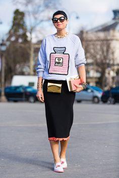 Streetlooks à la Fashion Week automne-hiver 2014-2015 de Paris
