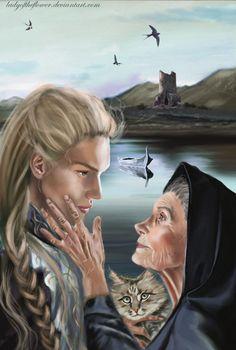 Андрет и Финрод   I will tell him - Andreth and Finrod by Ladyoftheflower on DeviantArt
