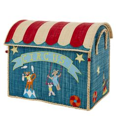 Grote Circus Toy Basket Blue