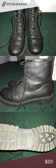 Size 7 Black Combat Boot NEVER WORN Size 7 Womens combat boot in black Divided Shoes Combat & Moto Boots