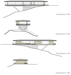 Gallery of House in Yatsugatake / Kidosaki Architects Studio - 1 - Image 33 of 34 from gallery of House in Yatsugatake / Kidosaki Architects Studio. Architecture Plan, Interior Architecture, Landscape Architecture Model, Computer Architecture, Japanese Architecture, Casas Containers, Hillside House, Cliff House, New House Plans