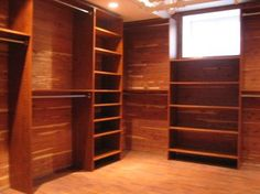 Amazing Cedar Walk In Closet Ideas | Custom Closet In Basement   Traditional    Closet   Other Metro   By .