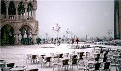 Piazetta San Marco in the snow.