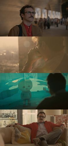 Her (2013) directed, written and produced by Spike Jonze. Starring Joaquin Phoenix, Amy Adams and Scarlett Johansson