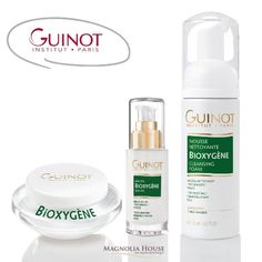 Guinot offers the skin a breath of fresh air with this BIOXYGENE set.  Bye bye dull and tired complexion...Used in combination these high-performance products deeply oxygenate the epidermis and beautify the face. The result a visibly detoxified & healthy skin day after day.  Purchase the Bioxygene Cream and Serum and receive FREE the Bioxygene Cleansing Foam. SAVINGS $45 . #Guinotcanada #guinot #skincareroutine #Skin #hydrate #oxygenate #cleansingfoam #glowingskin #skinfood #magnoliahousespa