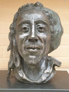 Bronze resin (also available as a foundry bronze poa) Portrait Sculptures / Commission or Bespoke or Customised sculpture by artist Linda Preece titled: 'Bob Marley (bronze Pop Star Reggae Singer Bust statues)'