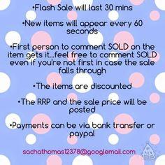 Flash Sale Rules
