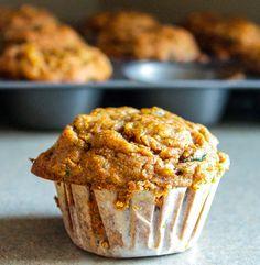 Spiced Zucchini Muffins HealthyAperture.com