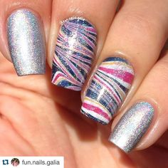 #Repost @fun.nails.galia with @repostapp.  For day 7 of #clairestelle8may I did a very open interpretation for sunset  I chose colors that seemed sunset-ish enough for my and watermarbled with them :) #watermarble #watermarblenails #holographic #holo  #showmynails #nailgasm #nailporn #nailsdid #featuremynails #notd #nails #nailart  #nailartwow #naildesign #nailpolish #nailitdaily #nailpromote #nailstagram #nails2inspire #nailsoftheday #craftyfingers #thenailartstory #ignails #instanails…