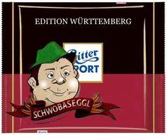 Ritter Sport Fake Schokolade äffle Pferdle Edition