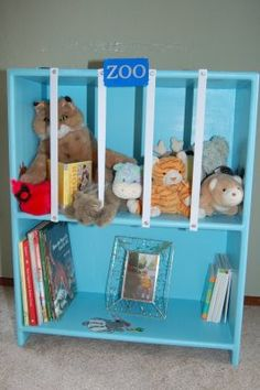 Love the stuffed animal storage with shelving! Please make me this for my clas. Love the stuffed animal storage with shelving! Please make me this for my classroom someone! Stuffed Animal Displays, Stuffed Animal Storage, Stuffed Animals, Auction Projects, Class Projects, Family Fun Magazine, Game Storage, Storage Ideas, Little Girl Rooms