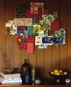 Vintage Fabric Wall Decor... how fun
