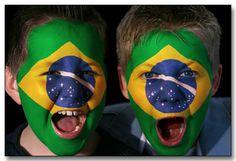 Young Brazilian Soccer Fans - © Nick Garrad/Istockphoto @Marcos Segantin Segantin Carvalho Yes. Soccer a beautiful game. World Cup is around the corner www.brasilcopamundotowel.com