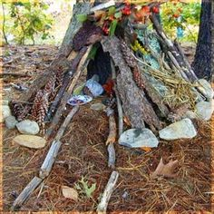 "Building fairy houses is a fun backyard and garden activity for kids. My kids had a lot of fun with them, and they used to like to leave milk out in bottlecaps ""for the fairies""."