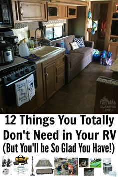 Think you know all the RV Must-Haves? We came up with some of our favorite RV items, all that we use often, and some might surprise you! Rv Camping Checklist, Rv Camping Tips, Travel Trailer Camping, Camping Glamping, Rv Travel, Rv Gifts, Gifts For Campers, Rv Campers, Happy Campers