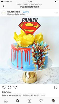 Superman Love, Wildest Fantasy, Superhero Cake, Drip Cakes, No One Loves Me, Beautiful Cakes, Birthday Cake, Romans, Desserts