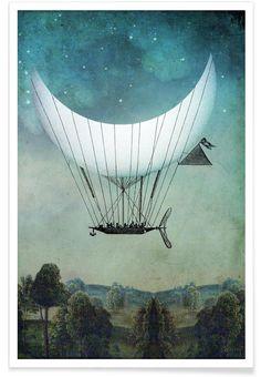 The Moon Ship - Catrin Welz-Stein - Premium Poster
