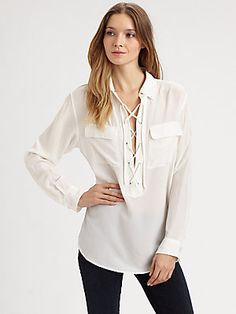 Equipment Knox Safari Silk Shirt