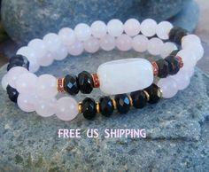 Inner Healing & Strength Rose Quartz. Onyx Yoga by LifeForceEnergy, $35.00