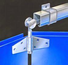 Rel pintu garasi lipat dan tikung Henderson, produk impor berkualitas
