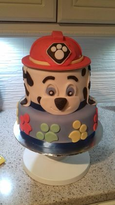 Paw patrol cake for my grandson